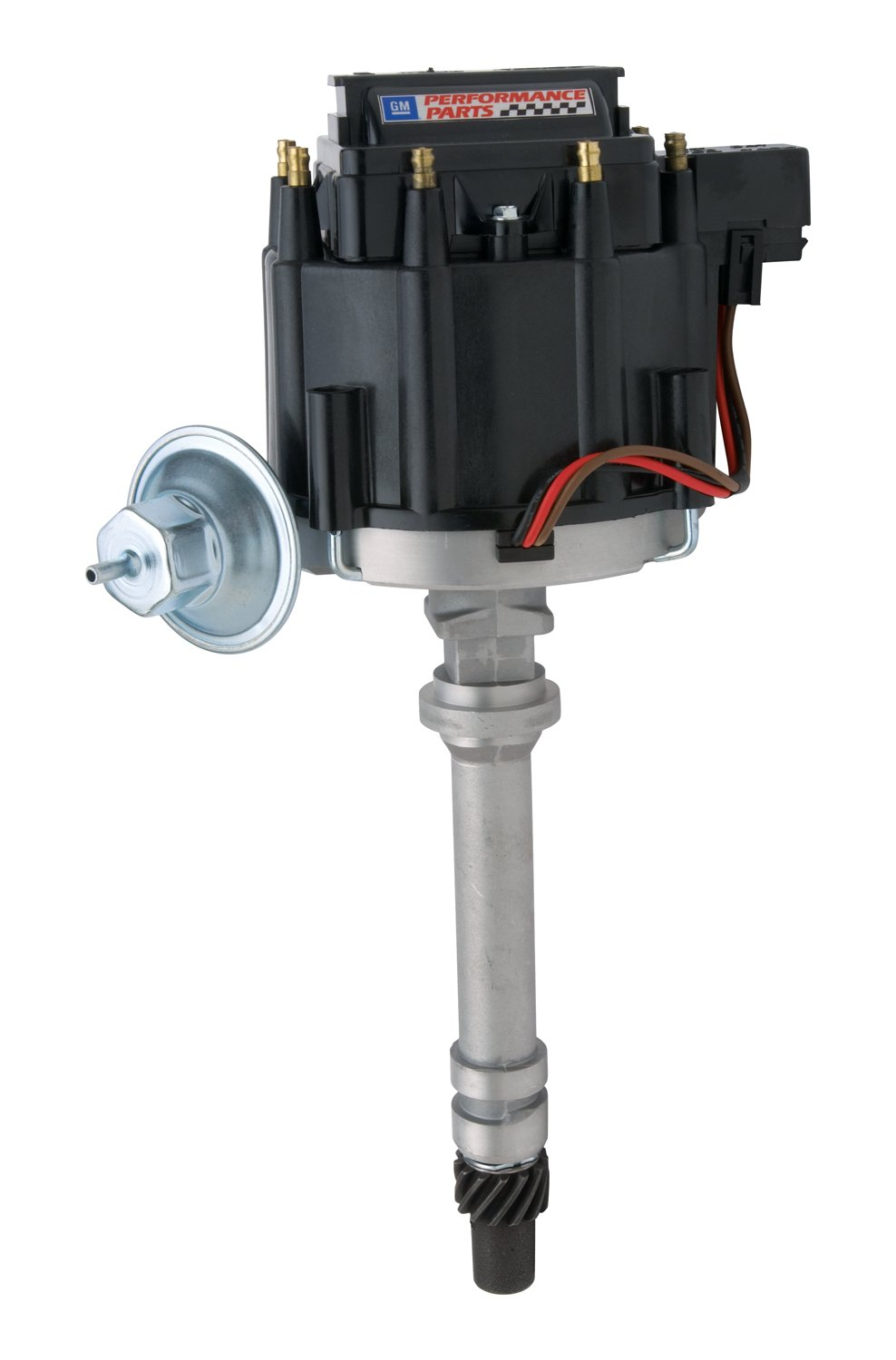 Proform 141-682 Adjustable Vacuum Advance HEI Distributor with Steel Gear and Black Cap for Chevy V8