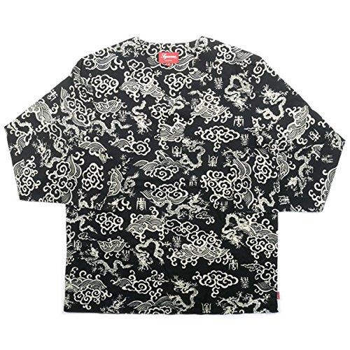 SUPREME シュプリーム 15SS Imperial Shirt プルオーバー長袖シャツ 黒白 M 並行輸入品 B07F22B3P9