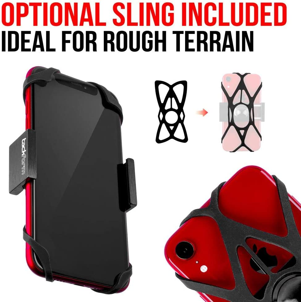 Tackform Enduro Series All Metal Motorcycle Phone Holder for 1.5 Inch Diameter Handlebars - ALL METAL CONSTRUCTION