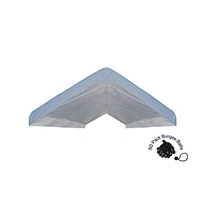 EZ Travel Collection Canopy Roof Cover Valance Canopy Replacement Top (White) (20'x30') : Garden & Outdoor