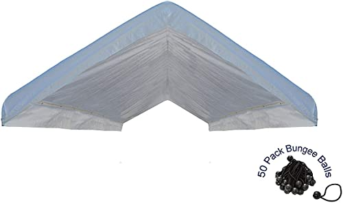 EZ Travel Collection Canopy Roof Cover Valance Canopy Replacement Top White 20 x20