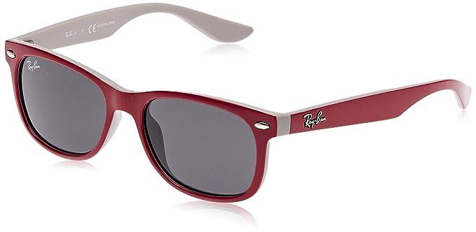 RAY-BAN JUNIOR Wayfarer Junior Gafas de sol, Top Red Fuxia on Gray, 47 Unisex-Niño