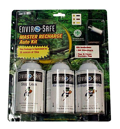 Enviro-Safe Master Recharge Auto Kit Equivalent to 36 ounces 134a by Enviro-Safe