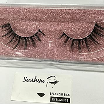 05ca286532d Amazon.com : 3D Silk Eyelash Extensions Long Thickness False Eyelashes for  Makeup Handmade Korea Silk Soft Animal Cruelty Free Fake Eyelashes Salon  Perfect ...