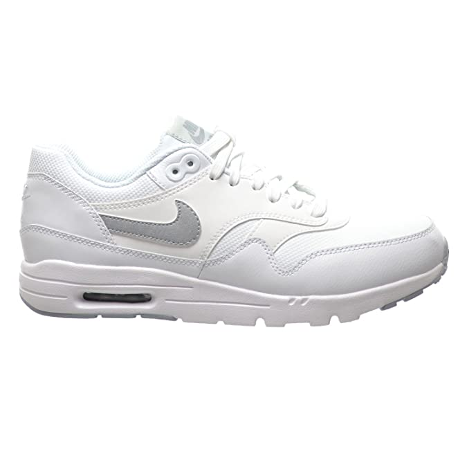 5af8968ee1 Amazon.com | Nike Air Max 1 Ultra Essentials Women's Shoes White/Wolf  Grey/Pure Platinum/Meltallic Silver 704993-102 | Running