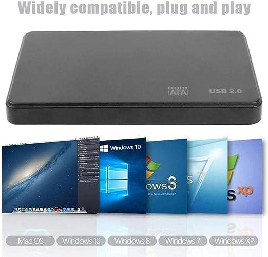 libelyef Caja De Disco Duro En Serie Sata Portátil A USB 3.0/2.0 Carcasa De Disco Duro Externo Adaptador Disco Duro SSD Admite 2 TB para Windows OS-2.5 Pulgadas: Amazon.es: Hogar