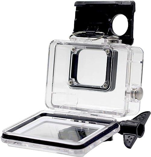غطاء حافظ وقاسي ومقاوم للماء 45 سم مع رباط سريع الفك و برغي للمقبض على حجم الابهام- لون اسود لكاميرا جو برو هيرو 5