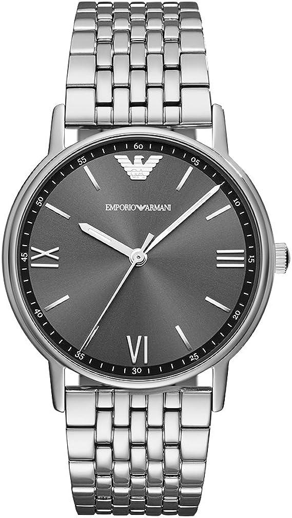auge Escuchando Gruñón  Amazon.co.jp: Emporio Armani Men's Kappa AR11068 Silver Stainless-Steel  Japanese Quartz Fashion Watch: Emporio Armani: Wrist Watches