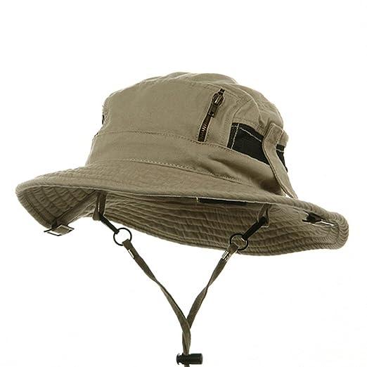 Canvas Fisherman Hat-Khaki at Amazon Men s Clothing store  Bucket Hats a7a45c1637b