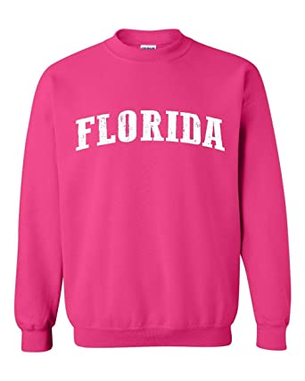 Amazon.com: Ugo FL Florida Map Flag Miami Orlando Home of University of Florida UF Unisex Crewneck Sweatshirt: Clothing