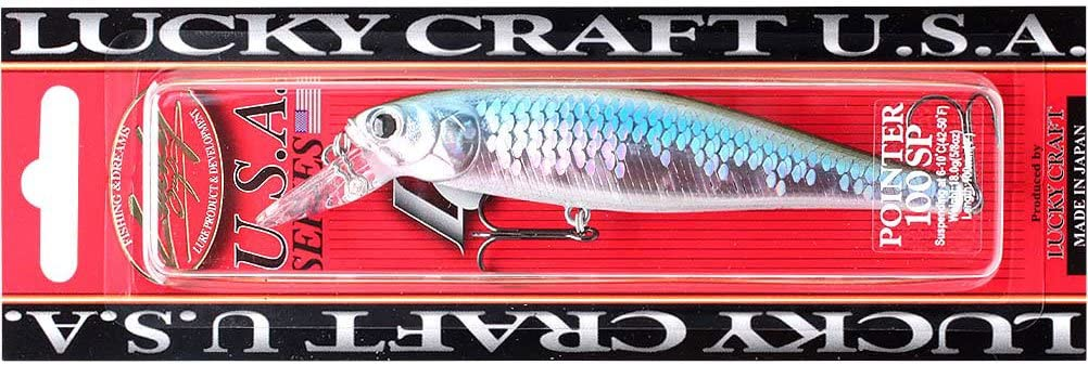 LUCKY CRAFT Pointer 100-369 Crystal Pro-Blue