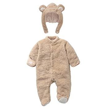 Mamelucos Bebé-Disfraz Bebé Animales Pelele Invierno Frenela con Gorro Desmontable