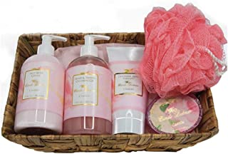 product image for Camille Beckman Essentials Gift Basket, Camille, Glycerine Hand Therapy 6 oz, Silky Body Cream 13 oz, Hand and Shower Cleansing Gel 13 oz, Glycerine Soap 3.5 oz