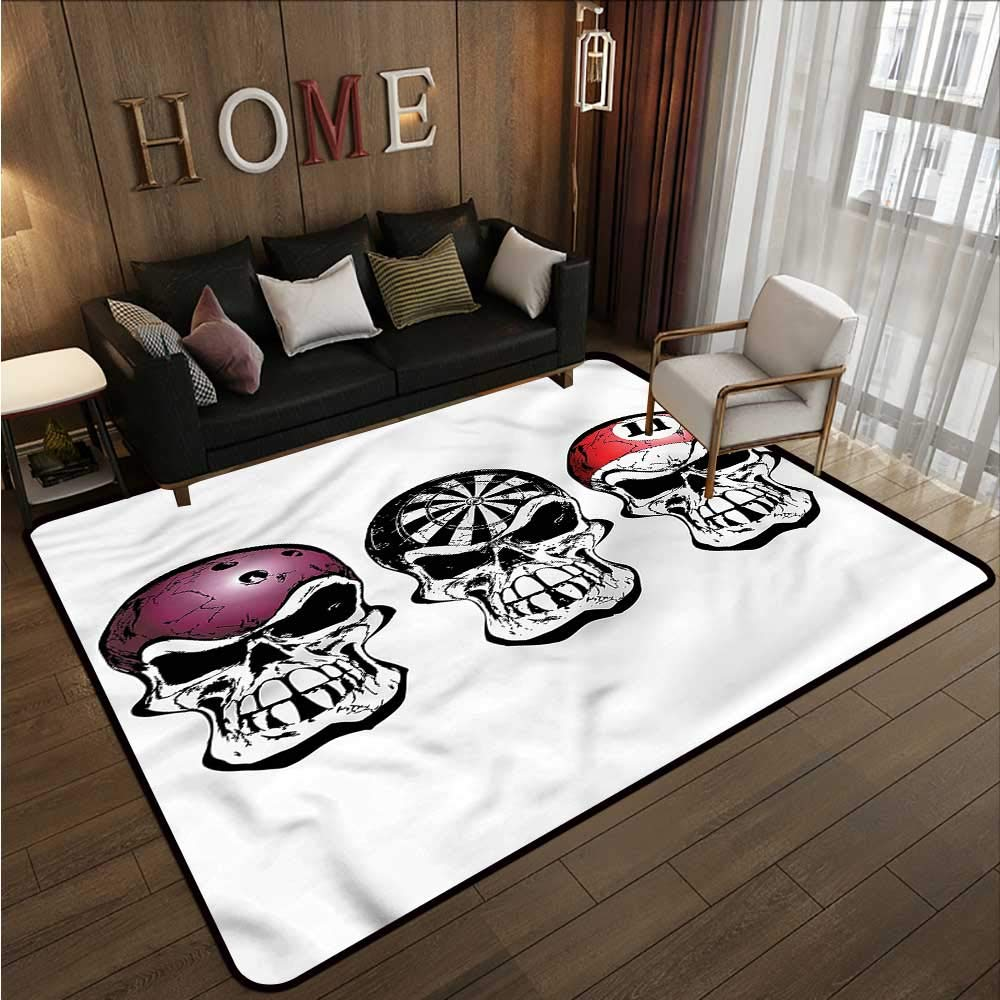 """B07SHD76CX Manly,Large Floor Mats for Living Room 60\""""x 72\"""" Bowling Darts Skulls Sketch Camping Rugs for Outside 61RYY6l07jL._SL1000_"""