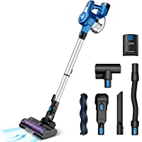 INSE Cordless Vacuum Cleaner, 23Kpa 250W Brushless Motor Stick Vacuum, Up to 45 Mins Max Runtime 2500mAh Rechargeable…