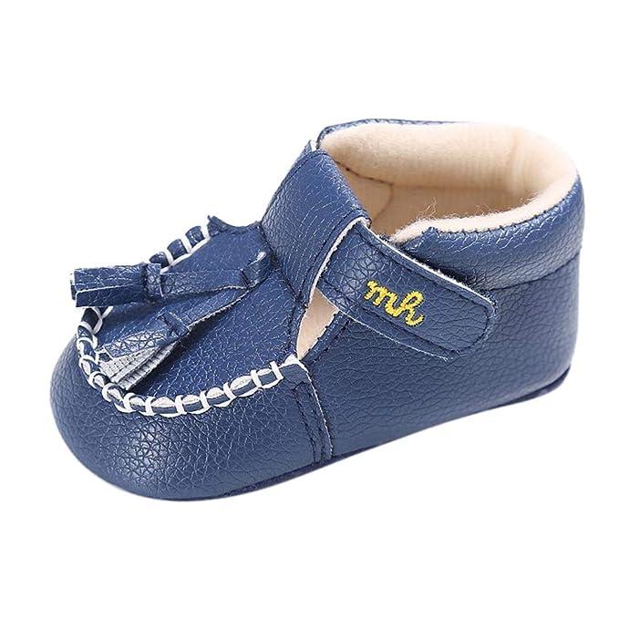 056db243d6fe SamMoSon Zapatos Bebe Recien Nacido niña Invierno con Suela Bebé Infantil  Niños Niña Niños Cuna Suela Suave Niño Recién Nacido Borlas Zapatos  Zapatillas de ...
