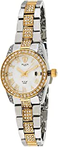 Black Royale Women's White Dial Brass Band Watch - 2015LTTWR