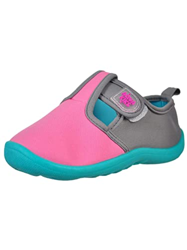 363ac58fb942 Aqua Kiks Little Girls Water Shoes - Pink Gray
