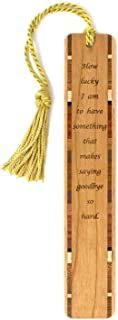 product image for Saying Goodbye Quote, Engraved Wooden Bookmark with Tassel - Search B082BGPX28 for Personalized Version