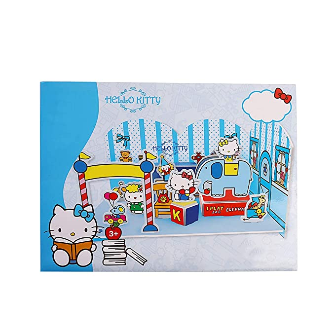 42437305c Amazon.com: NEILDEN Hello Kitty 3D Scene Jigsaw Puzzle - Beautiful Campus - Toy  House, Suitable for 4-8 Years Old Children, Art Jigsaw Girls Toy Gift ...