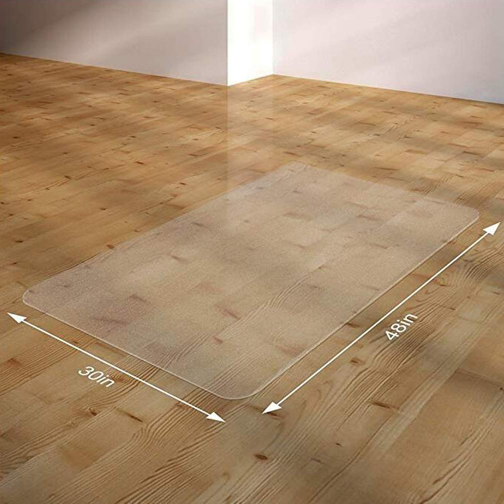 Amazon.com : Clear Rectangle PVC Transparent Chair Mats Floor Mat Protector 1.5mm Thickness for Hard Wood Floor Home Office Chair (30 x 48 Inches, ...