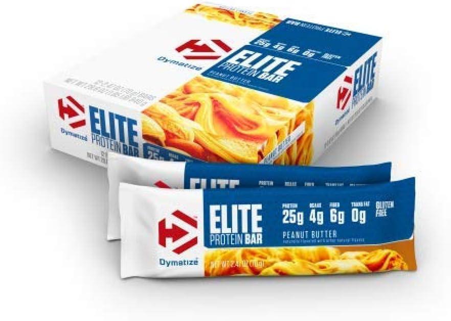Dymatize Elite de mantequilla de cacahuete Protein Bar – Pack de 12