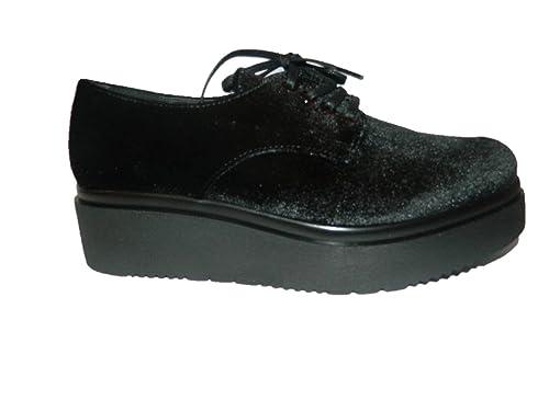 PORTOFINO Mocasines de Terciopelo Para Mujer Negro Negro Negro Size: 37: Amazon.es: Zapatos y complementos