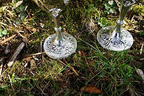 Antikas Deux trinkkelche que largent paire de verres /à vin /él/égant de vin vin gobelets plaqu/é argent