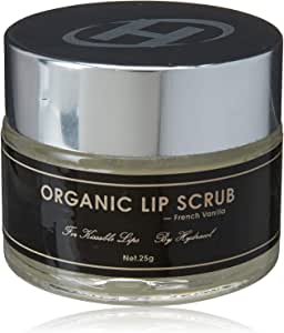 Lip Scrub - Best Organic Sugar Exfoliating Lip Exfoliator, Gentle Lip Scrubs for Dry, Chapped Lips, Softens and Smooths, Vanilla Flavour Moisturises With Lush Natural & Pure Ingredient, Hydrate After S