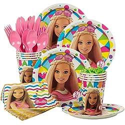 Costume Supercenter BBKIT1009 Barbie Sparkle Standard Birthday Party Tableware Kit