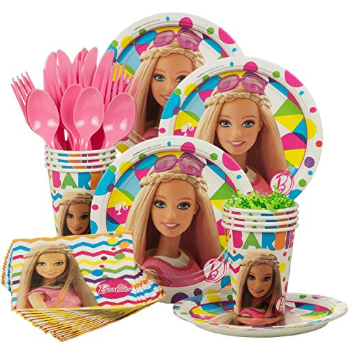 Costume Supercenter BBKIT1009 Barbie Sparkle Standard Birthday Party Tableware -
