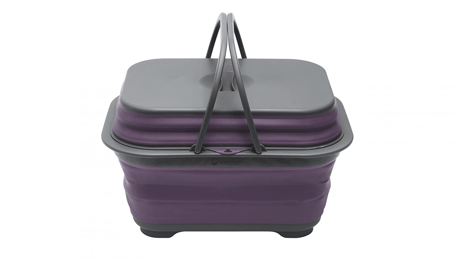 Outwell Collaps Washing Base with Handle & Lid plum