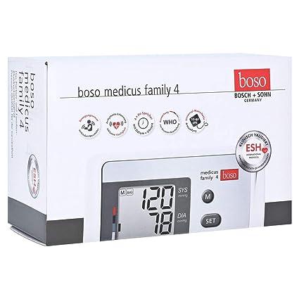 Boso Medicus Family 4/Partner de y Familias – Tensiómetro digital con 4 almacenar,