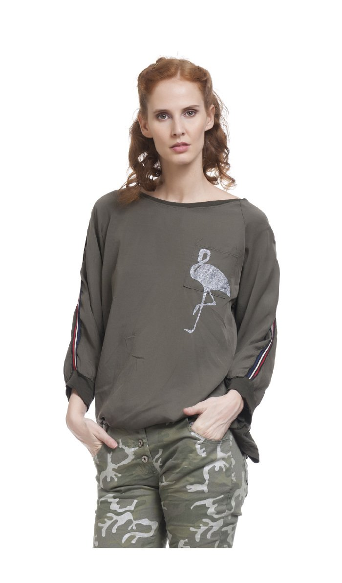 TANTRA Long Sleeve Top MAELYS - Women - Onesize - Green