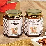 Pecan Praline and Hot Fudge Sauce Duo