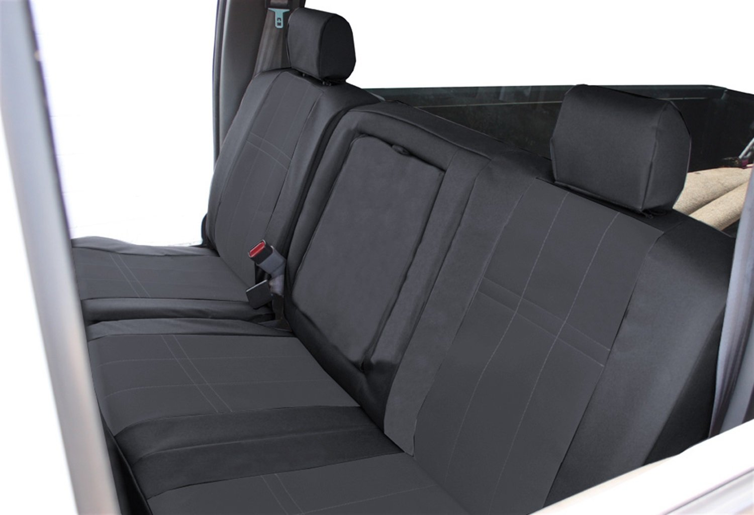 DuraPlus Charcoal Insert and Black Trim CalTrend Front Row 40//20//40 Split Bench Custom Fit Seat Cover for Select Dodge Models
