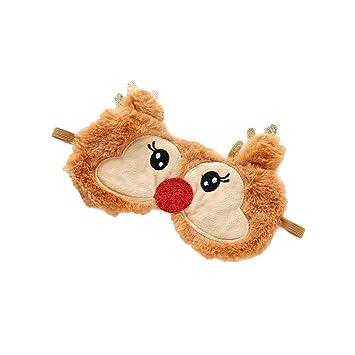 Gespout Masque Pour Les Yeux Reglable Masques De Sommeil Noel