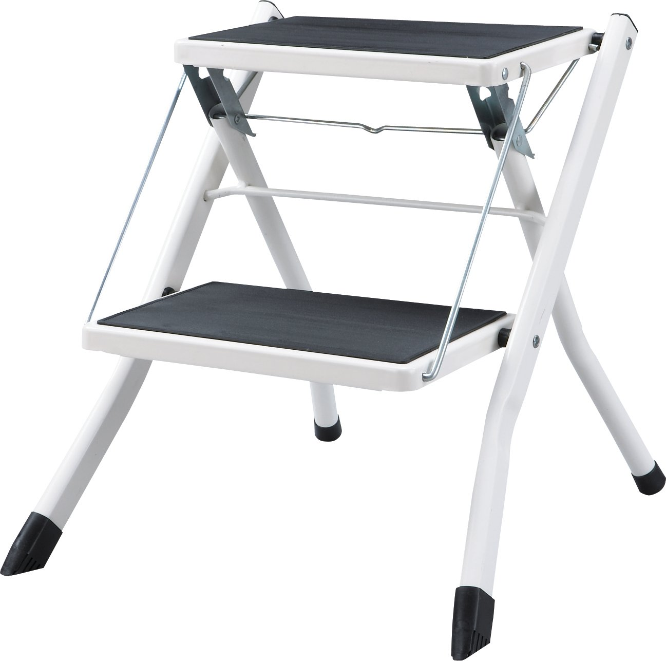 AZUMAYA PC-334WH Folding Step 17 Inches Height Steel Frame Material, W16.9 x D18.9 x H17.0, White