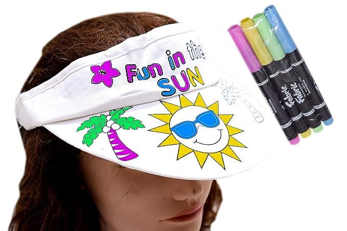 Colourable Cap with Color Pen - Sun