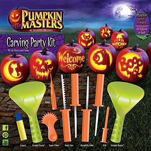 Pumpkin Carving Ghosts (Pumpkin Masters Halloween Pumpkin Party Carving kit - 12)