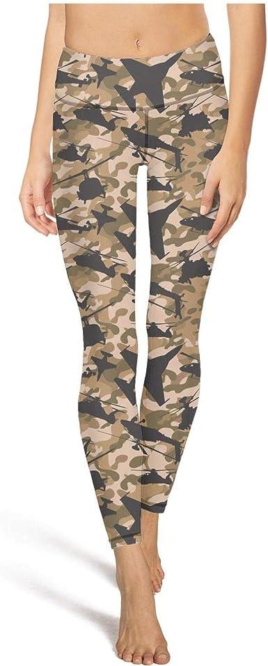 Amazon Com Luwi Mallas De Yoga Con Estampado De Camuflaje De Comandos De Aire Para Mujer Clothing