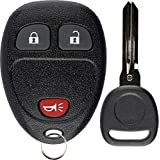 KeylessOption Keyless Entry Remote Control Car Key Fob Replacement for 15913420 with Key