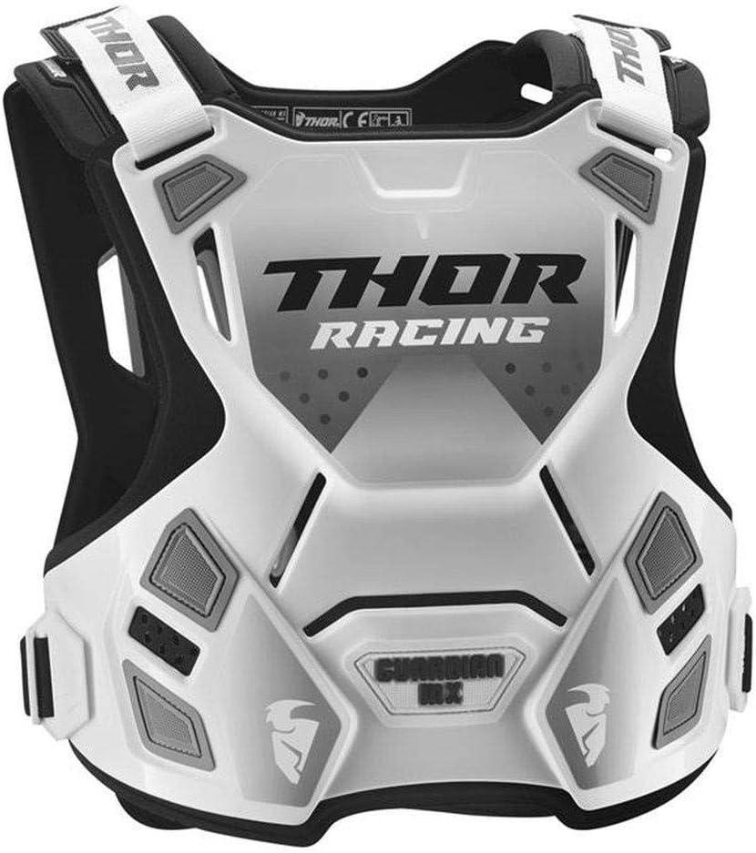 Weiss schwarz Thor Guardian MX Roost Deflector Motocross Brustpanzer Spring 2018