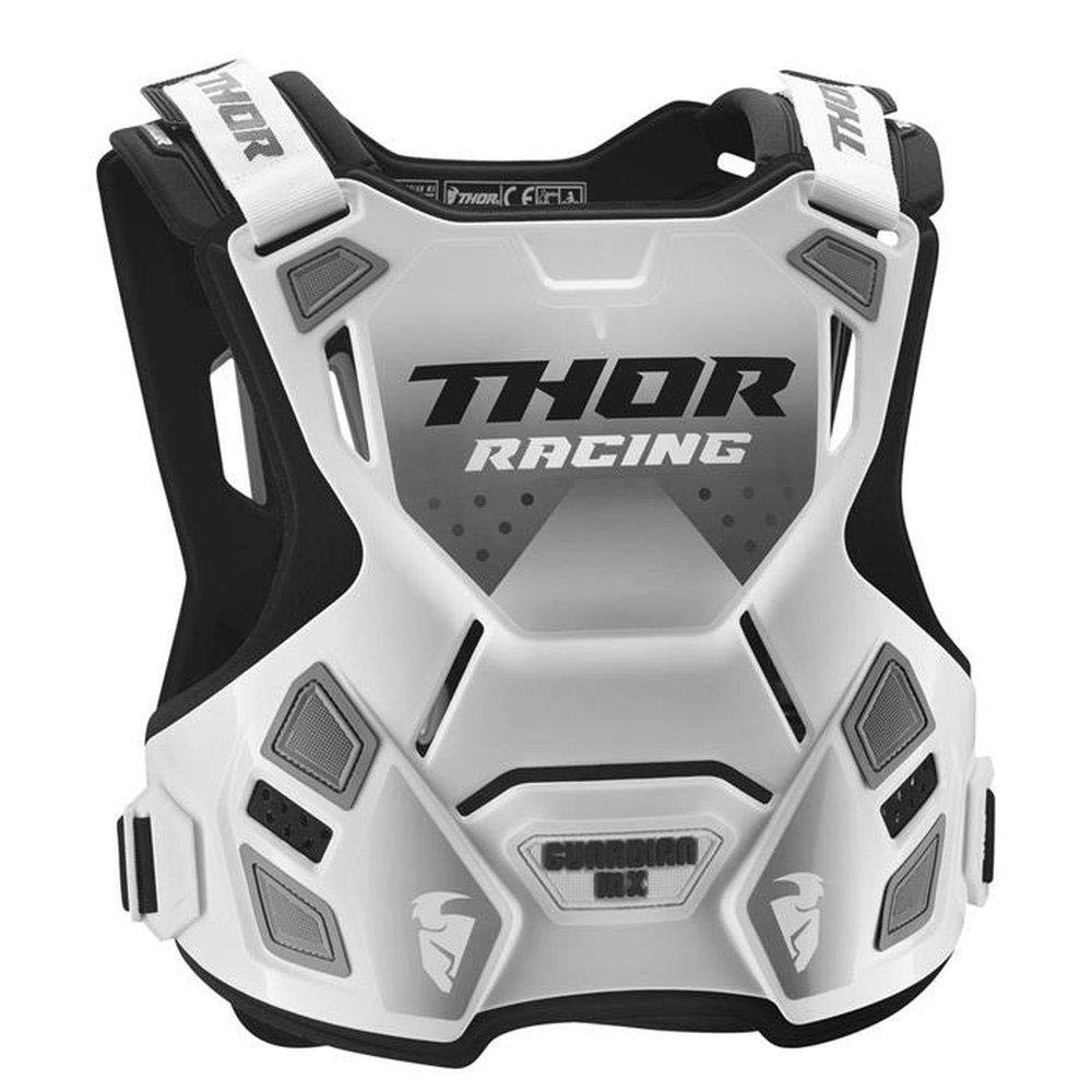 Thor Guardian MX Roost Deflector Motocross Chest Armour Spring 2018 Blanco Negro