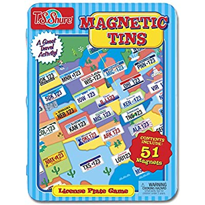 T.S. Shure License Plate Game Magnetic Playset