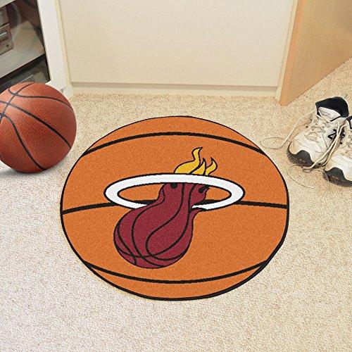 Miami Heat NBA Sports Team Logo Round Indoor Outdoor Area Rug Basketball Floor Mat Carpet 27