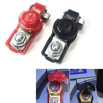 Qiorange 1 Paar Schwarz Rot Auto Batterie Klemmenanschluss Klemmen ...