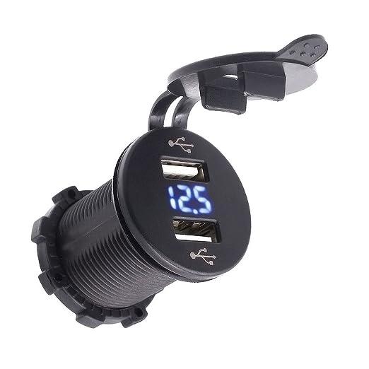 16 opinioni per TurnRaise 2 USB Caricabatterie Presa 2.1A & 2.1A con Voltmetro per Ipad Iphone