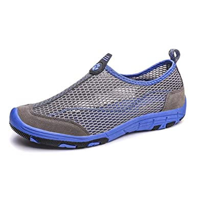 snfgoij Womens Séchage Rapide Maille Chaussures De Sport Marchant Respirant en Plein Air Chaussures en Amont,Gray-41