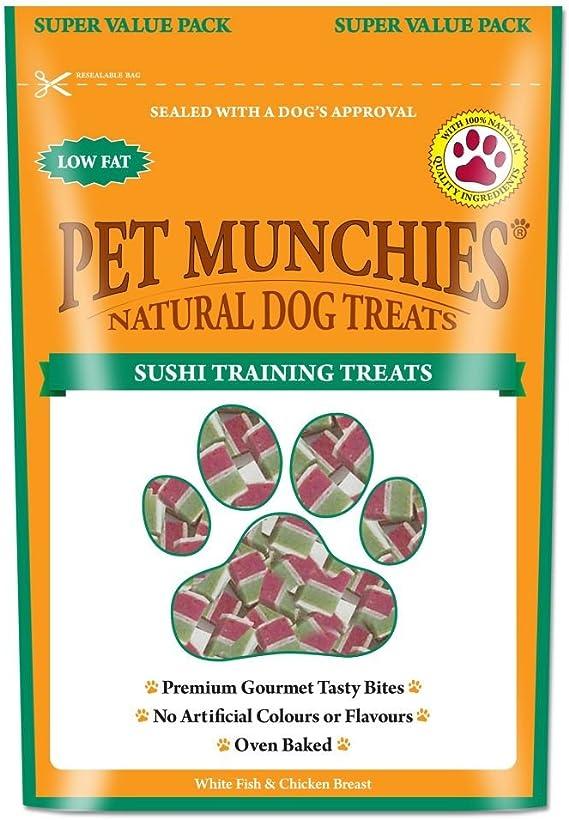 Pet Munchies - Paquete ahorro snack entrenamiento sabor sushi para ...